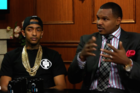 """Nipsey Hussle Discusses NFL """"N-Word"""" Ban With Larry King"""