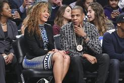 Jay Z Seen Rocking Five Percent Nation Medallion At Barclays Center