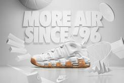 "New Released Date Announced For The ""White/Gum"" Nike Air More Uptempo"