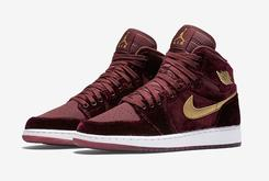 "Official Images Of The Velvet ""Heiress"" Air Jordan 1"