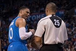 Russell Westbrook Got T'd Up For Throwing The Ball At A Refs Head