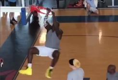 Watch Shaq Demolish Average-Sized Human In Pickup Basketball