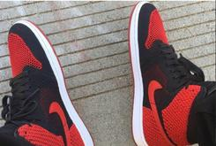 "Fabolous Debuts ""Bred"" Flyknit Air Jordan 1 At Jordan Brand Photo Shoot"