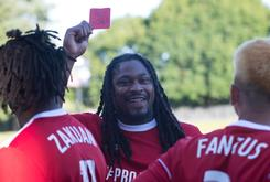 Marshawn Lynch Red-Carded During Celebrity Soccer Game In Seattle