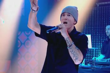 "Eminem Performs ""Lose Yourself"" At Beats By Dre Grammy Party"
