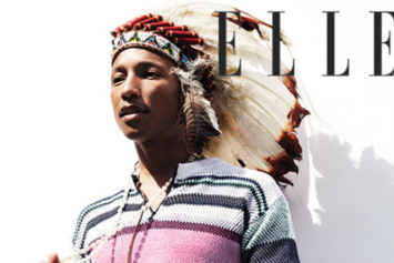 "Pharrell Wears Native American Headdress For Elle UK, Sparks ""#NotHappy"" Outrage"
