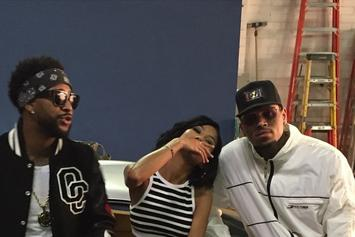 """BTS Photos: Omarion, Chris Brown, & Jhene Aiko's """"Post To Be"""" Video"""