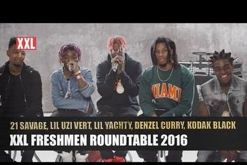 Lil Uzi Vert, Lil Yachty, Kodak Black, 21 Savage & Denzel Curry's XXL Freshmen Roundtable Interview