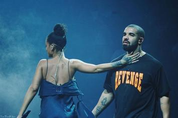 Drake & Rihanna Share Kiss On Stage In Miami