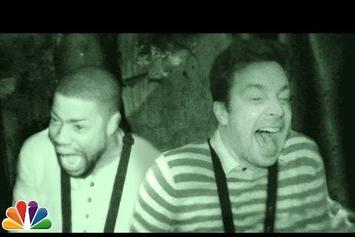 Watch Kevin Hart & Jimmy Fallon Freak Out In A Haunted House