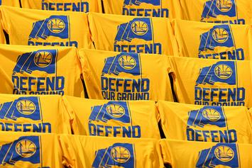"Cleveland Cavaliers' Twitter Calls Out Warriors For Using ""Defend Our Ground"" Slogan"