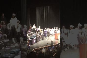 Student Punches Teacher In The Face During Graduation Ceremony