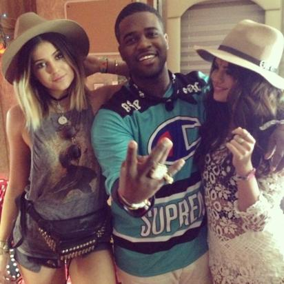A$AP Ferg with Kylie Jenner and Selena Gomez