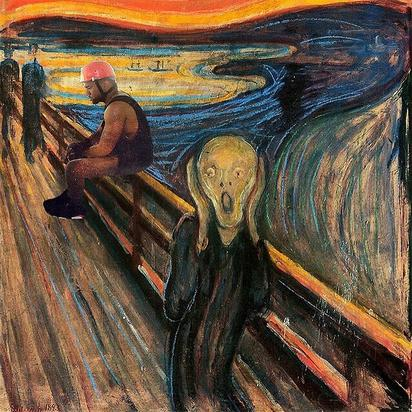 "#SadKanye invades ""The Scream"" painting"