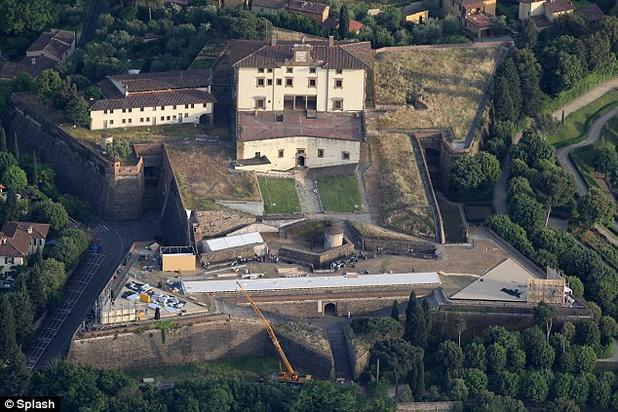Fort Belvedere in Florence, which the couple rented out for more than $420,000