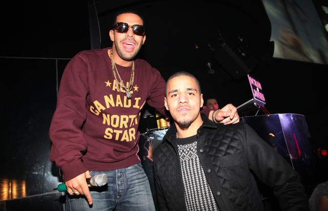 Drake and J. Cole in the club