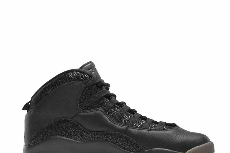 The black OVO x Air Jordan 10.