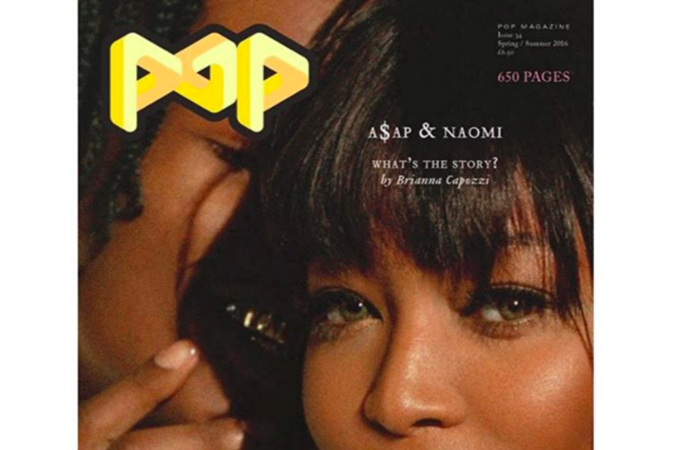 A$AP Rocky & Naomi Campbell pose for POP Magazine.