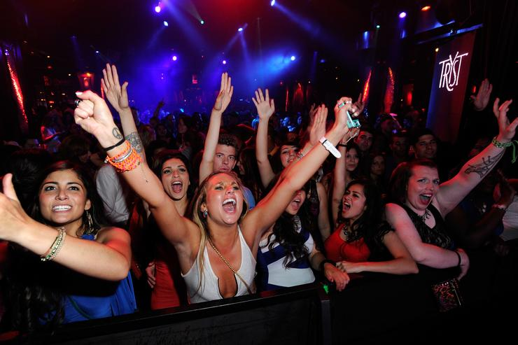 A general view of atmosphere is seen at the Tryst nightclub at Wynn Las Vegas on May 27, 2012 in Las Vegas, Nevada.