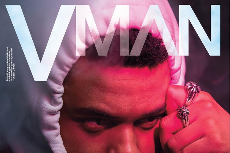 The Weeknd VMAN magazine cover