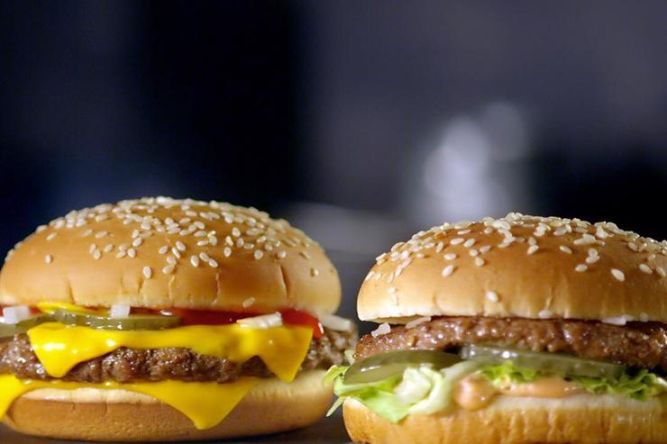 McDonald's Burgers high food