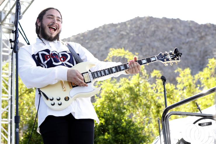 Post Malone performing at Coachella Republic Records party.