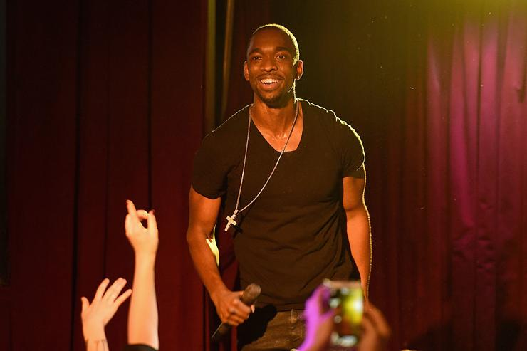 Jay Pharoah performs on stage at Urban Arts Partnership at the 15th annual The 24 Hour Plays On Broadway after party at BB King on November 16, 2015 in New York City.