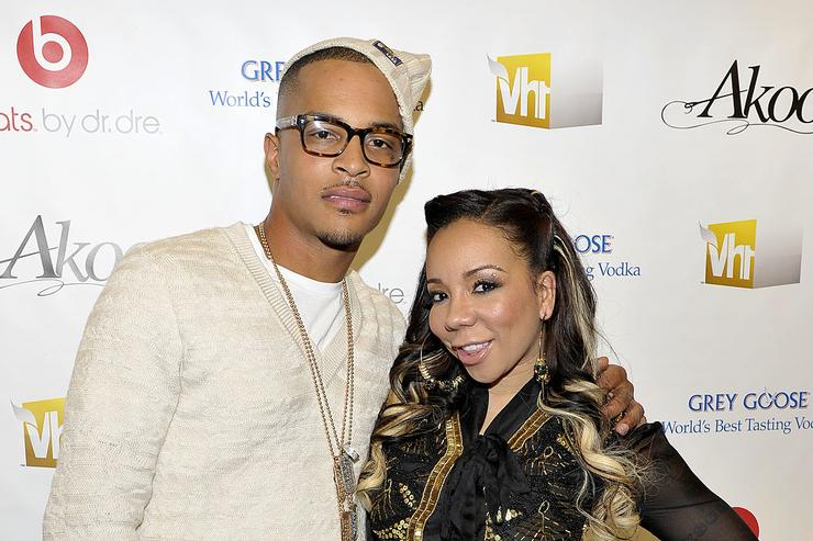 T.I. and Tiny attend the premiere screening of T.I. & Tiny: The Family Hustle at the Yotel Hotel on December 1, 2011 in New York City.