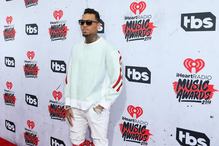 Chris Brown at iHeartRadio music awards.