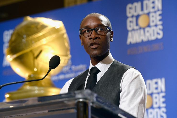 Don Cheadle at 74 annual Golden Globe awards.