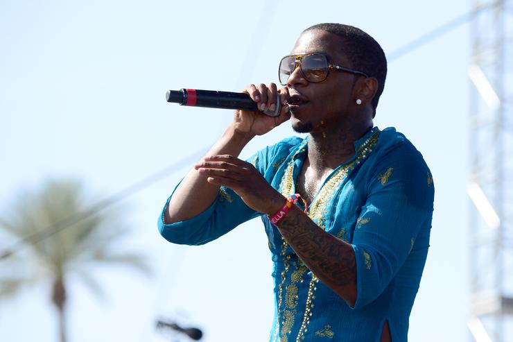 Lil B performing at Coachella 2015.