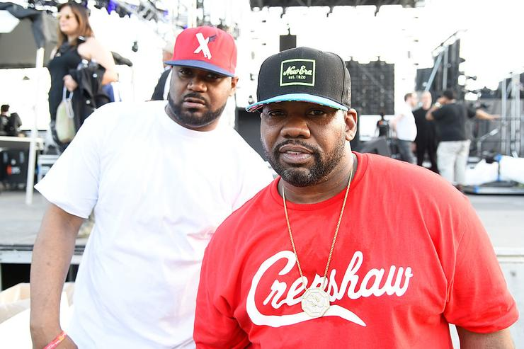 Ghostface Killah (L) and Raekwon pose backstage during day 1 of the 2015 Coachella Valley Music & Arts Festival (Weekend 1) at the Empire Polo Club on April 10, 2015 in Indio, California.