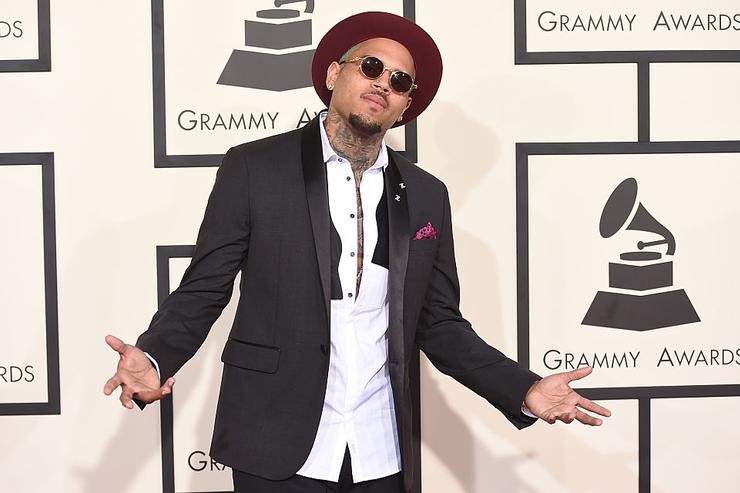 Chris Brown attends The 57th Annual GRAMMY Awards at the STAPLES Center on February 8, 2015 in Los Angeles, California.