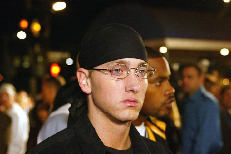 """Eminem at the premiere of """"8 Mile"""" at the Village Theatre in Westwood, Ca. Wednesday, Nov. 6, 2002."""