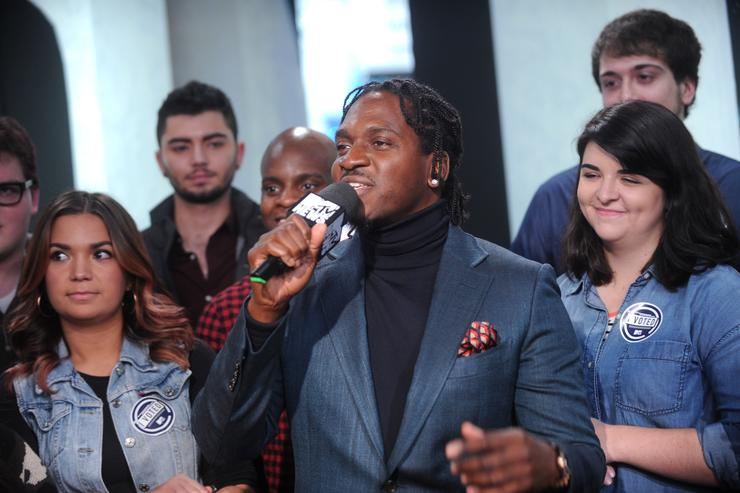 Pusha T at MTV 'The People's Playhouse' event on election night.