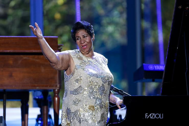 Aretha Franklin performing at The White House International Jazz Day concert.