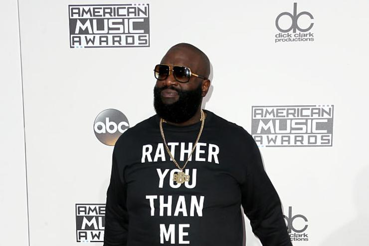 Recording artist Rick Ross attends the 2016 American Music Awards at Microsoft Theater on November 20, 2016 in Los Angeles, California.