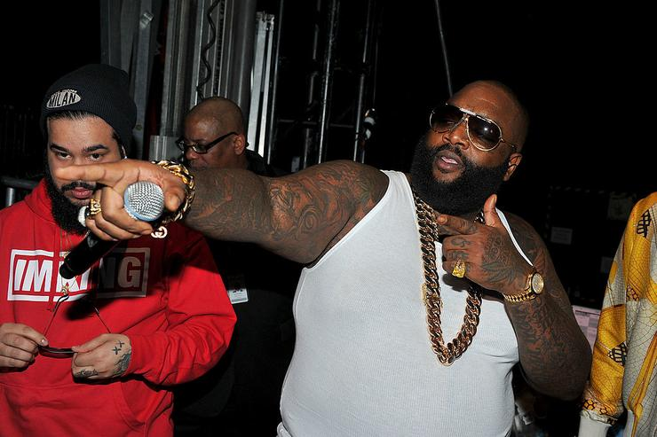 Rick Ross attends BET's Rip The Runway 2013:Backstage Hammerstein Ballroom on February 27, 2013 in New York City.