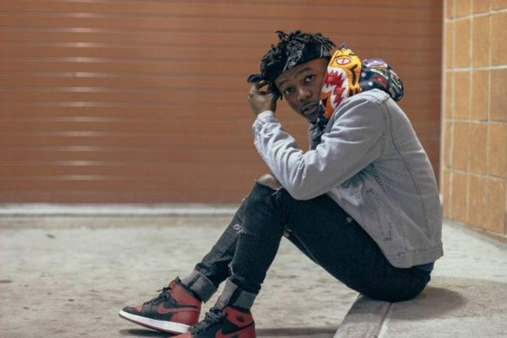 J.I.D poses for a photo.