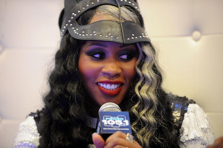 Remy Ma speaks backstage at Power 105.1's Powerhouse 2014 at Barclays Center of Brooklyn on October 30, 2014 in New York City.