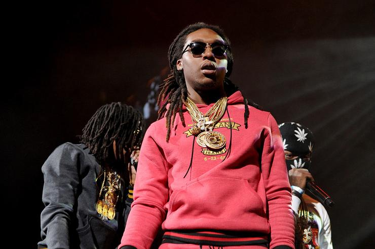 (L-R) Rappers Quavo, Offset, and Takeoff of Migos perform on stage at Power 105.1's Powerhouse 2014 at Barclays Center of Brooklyn on October 30, 2014 in New York City.