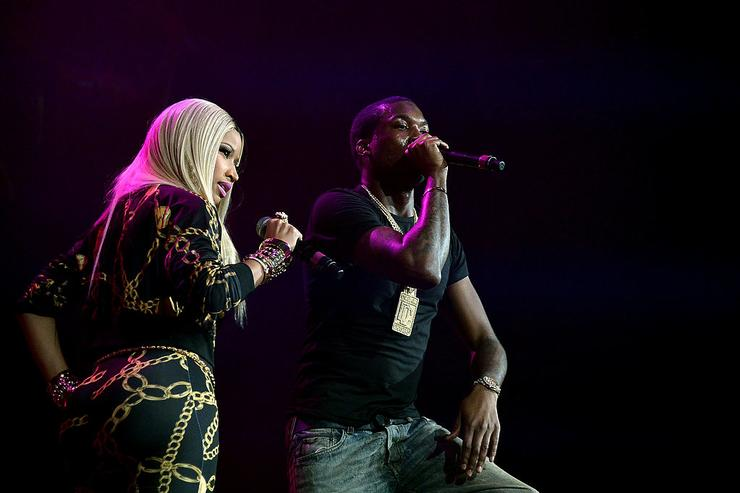 Nicki Minaj and rapper Meek Mill perform onstage at Power 105.1's Powerhouse 2013, presented by Play GIG-IT, at Barclays Center on November 2, 2013 in New York City.