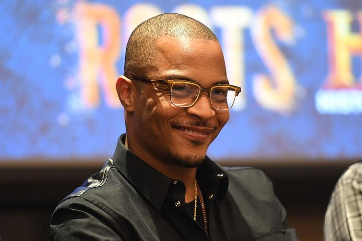 Actor/rapper Tip 'T.I.' Harris onstage at HISTORY's 'Roots' Atlanta advanced screening at National Center for Civil and Human Rights on May 9, 2016 in Atlanta, Georgia.