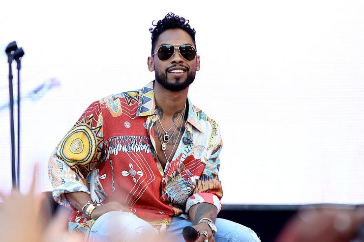 Miguel performs onstage during the REVOLT Live Takeover at Hollywood & Highland Courtyard on July 13, 2015 in Hollywood, California.