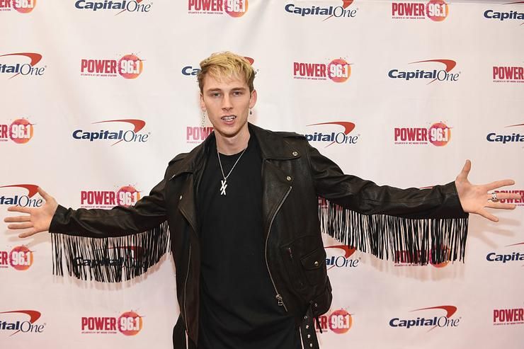 Machine Gun Kelly attends Power 96.1's Jingle Ball 2016 at Philips Arena on December 16, 2016 in Atlanta, Georgia.
