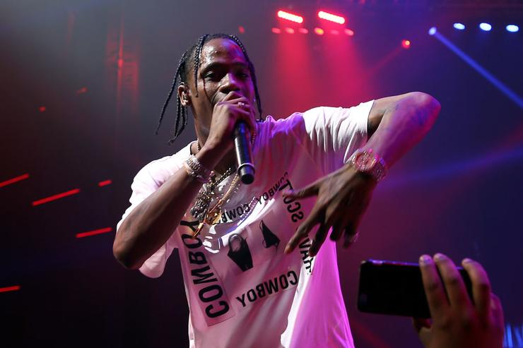 Travis Scott performs onstage at the Maxim Super Bowl Party on February 5, 2017 in Houston, Texas.