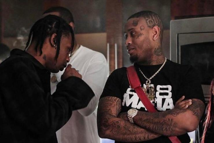 Travis Scott and Southside have a chat.