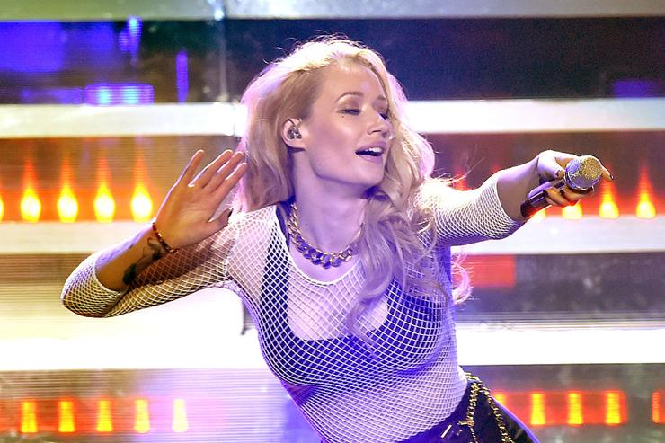 Recording artist Iggy Azalea performs onstage during KIIS FM's Jingle Ball 2014 powered by LINE at Staples Center on December 5, 2014 in Los Angeles, California.