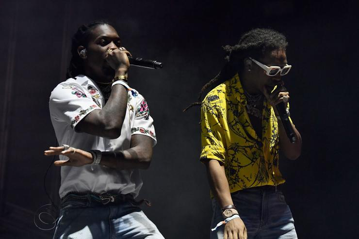 Offset and Takeoff of Migos perform at the Outdoor Stage during day 2 of the Coachella Valley Music And Arts Festival (Weekend 1) at the Empire Polo Club on April 15, 2017 in Indio, California.