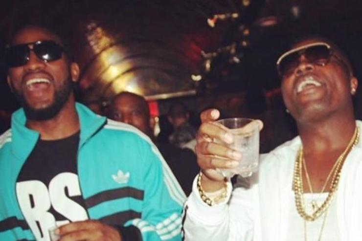 Troy Ave and Ronald McPhatter laugh in happier times.